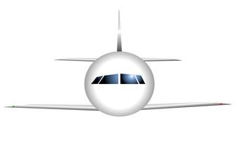 avion stylisé sur fond blanc