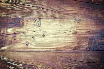 Old Wood Background - Vintage Brown and Vignette