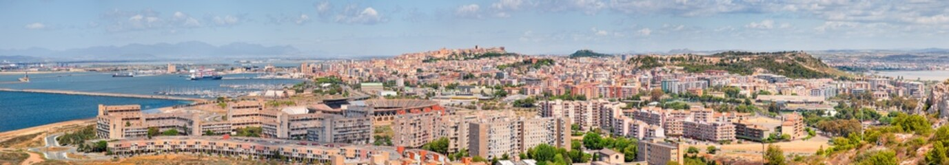 Panoramic view of Cagliari cityscape