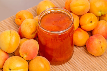 Fresh apricots and confiture