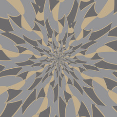 Background of kaleidoscope pattern with vintage tone