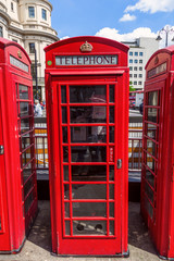 historische rote Telefonzelle in London