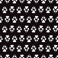 Traces dogs seamless vector pattern.