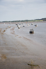 River Exe at Topsham Exeter Devon England UK Low tide