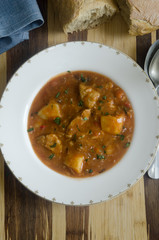 Pork goulash soup