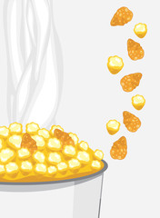 Corn flakes and popcorn