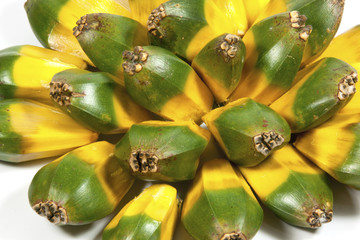Bright Green and Yellow Fruit of the Pandanas Palm