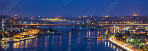 Foto op Canvas Turkey Notte ad Istanbul
