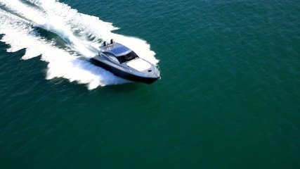 motor yacht in navigation
