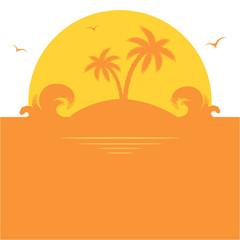 Orange palm island