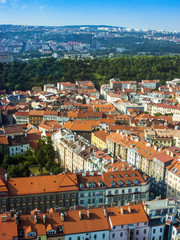 Prague, Czech Republic. View of the city from a survey platform