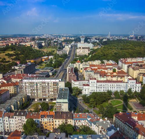 Foto op Canvas Praag Prague, Czech Republic. View of the city from a survey platform