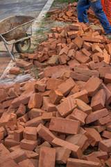 pile of red bricks 2