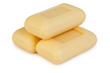 Three of yellow soap