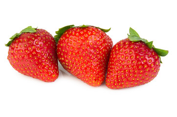 Three of red strawberry