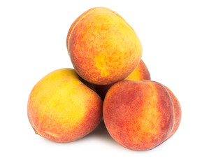 Stack of ripe peaches