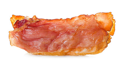 bacon on white background