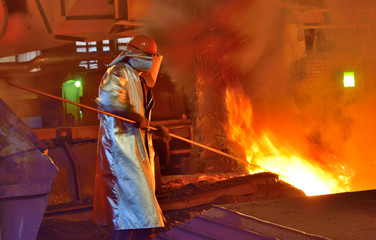 worker and production of cast iron