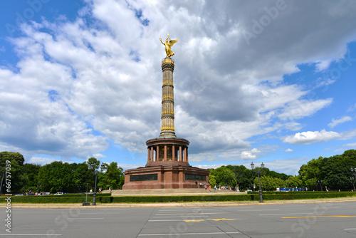 Poster Berlijn Siegessäule, Viktoria, Goldelse, Tiergarten, Turm, Berlin