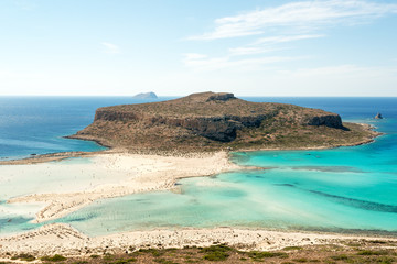 Turquoise waters of famous Balos beach, Crete, Greece