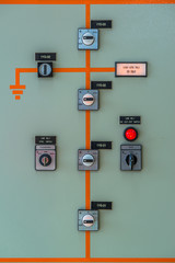 control meter display at Power station
