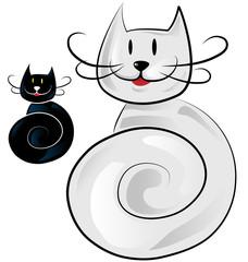 happy cat cartoon