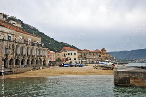 Leinwandbild Motiv Santa Maria di Castellabate, Salerno - Cilento il lungomare