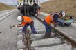 pose de rails neufs - 66757846