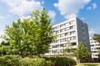 modernes Gebäude - Appartement und Park