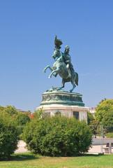Statue of Archduke Karl-Ludwig-John on Heldenplatz. Vienna. Aust