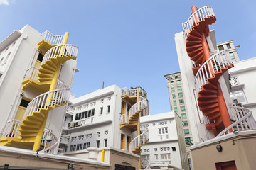 Colorful Spiral Staircase in Bugis Area