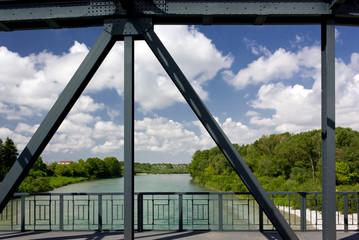 Iron Bridge Over Isonzo River