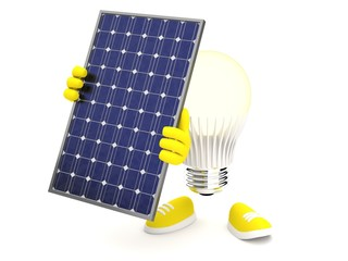 Led Lamp with Solar Panel