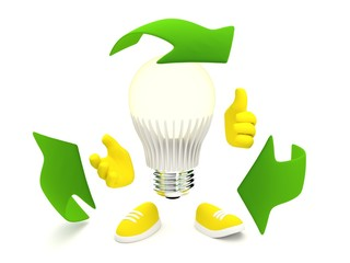 Led lamp recycle