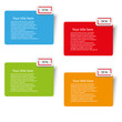 illustration color paper tags vector