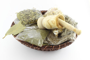 Packaged Dried Herbal Teas And Garlic Beater