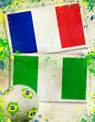 France vs Nigeria  soccer concept