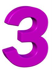 pembe renkli 3 sayısı
