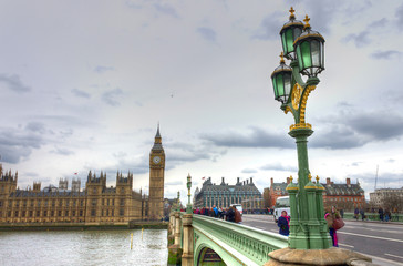 UK, England, London, Westminster Bridge and the Big Ben