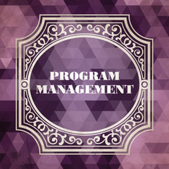 Program Management. Vintage Design Concept.