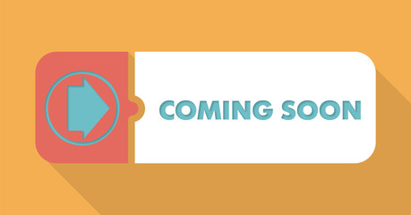 Coming Soon Concept in Flat Design.