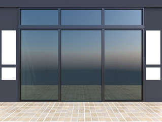 Shopfront with windows