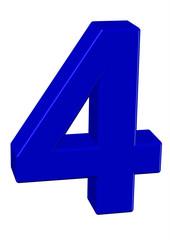 mavi renkli 4 sayısı