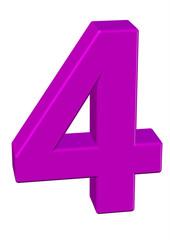pembe renkli 4 sayısı