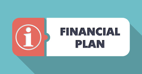 Financial Plan Concept in Flat Design.