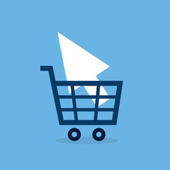 Shopping cart online carrying pointer