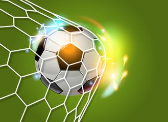 Tor Goal Ball Soccer Effekte Gruen