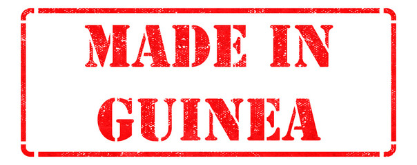 Made in Guinea on Red Rubber Stamp.