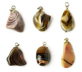 set of agate pendants