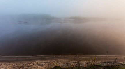 mist over the River at dawn